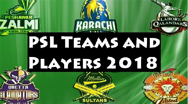 2018 Psl Teams Full Squad